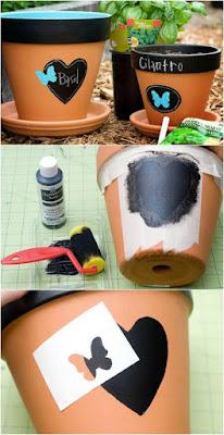 Macetas pintadas - como calcar figuras