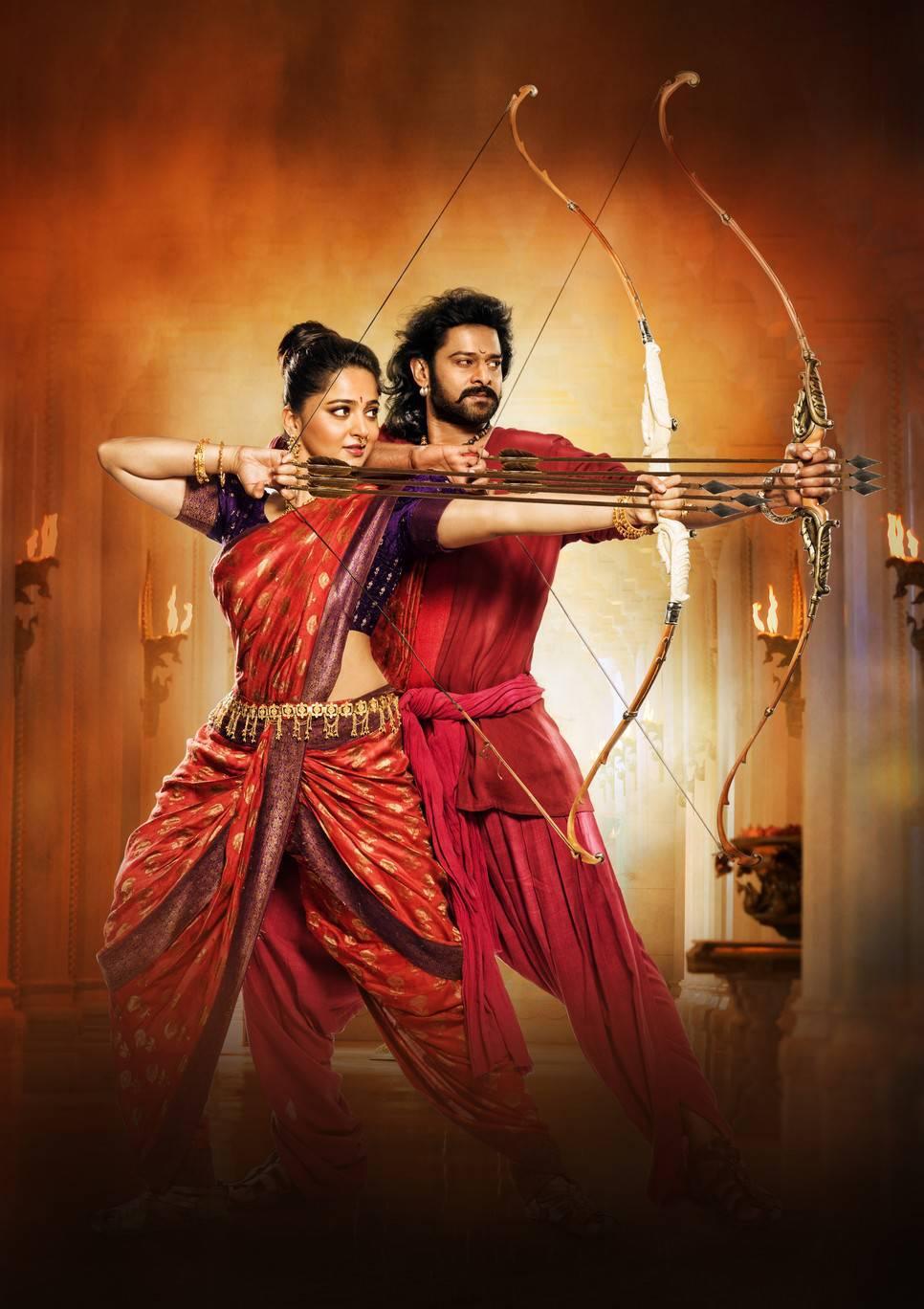 Anushka Prabhas Baahubali 2 Telugu Movie Poster