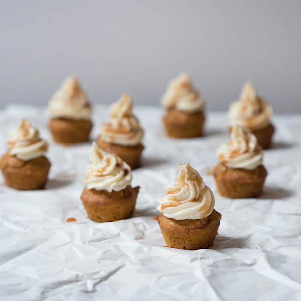 Mini Pumpkin Cupcakes with Caramel