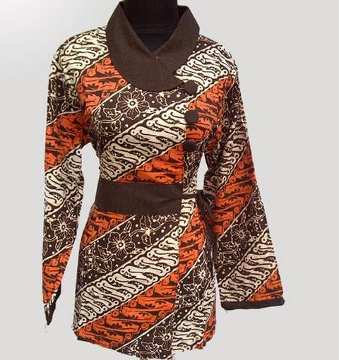 Contoh Gambar Baju Batik Modern: 5 Gambar Model Baju Batik Wanita Terbaru 2016