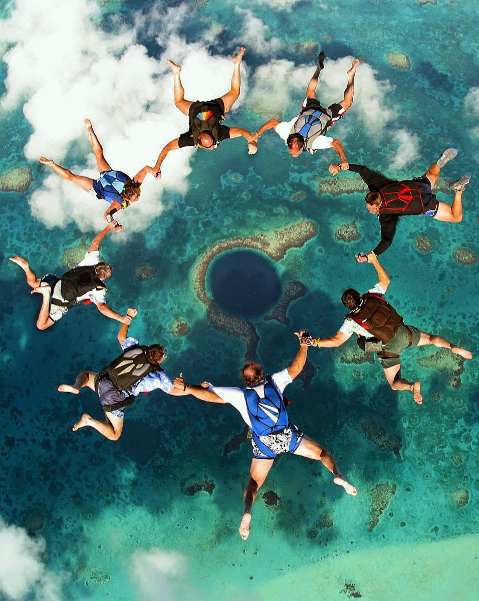 Best Places To Go Scuba Diving On Earth | Skydiving over The Great Blue Hole, Belize