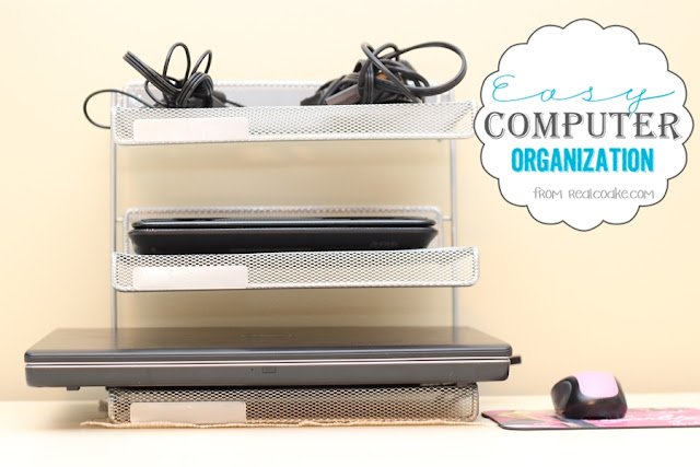 Organizing your home with an easy way to organize your computers. #Organizing #Computer #RealCoake