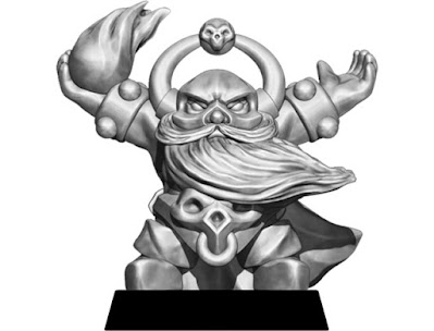 Dwarf Warlock sculpted by G-or-G