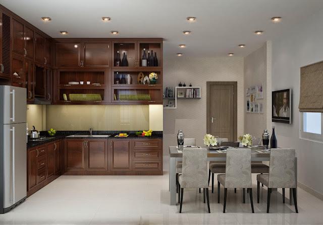 Thiết kế nội thất phòng bếp hợp phong thủy với gia chủ