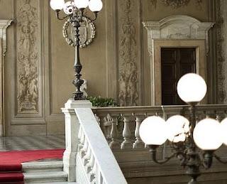 Escalinata de la Embajada de España ante la Santa Sede en Roma