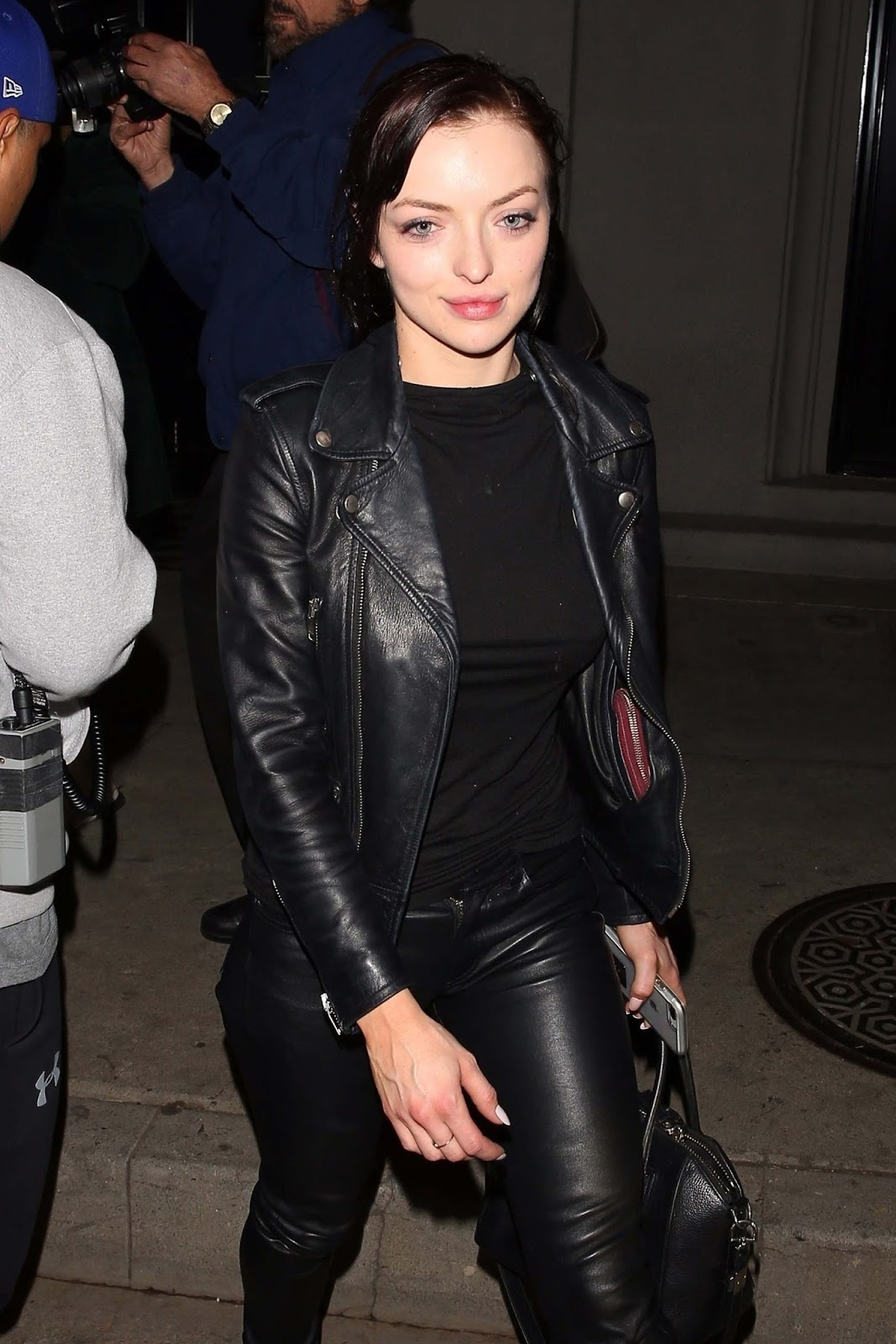 Lovely Ladies in Leather: Francesca Eastwood in leather pants