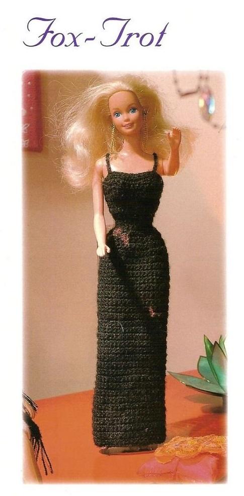 Vestido Longo de Crochê Para a Barbie. Novo Passo a Passo Na Área Secreta do Blog