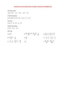 Respostas dos Exercicios sobre Conjuntos Numericos