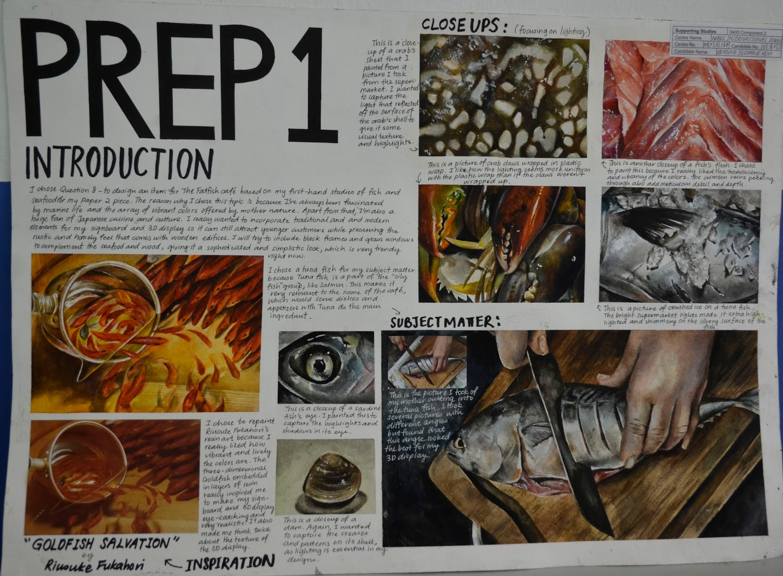 igcse malaysia artist november preparation series prep coursework artwork preparatory cambridge examples