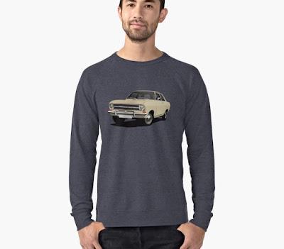 Opel Kadett B sedan t-paita beige