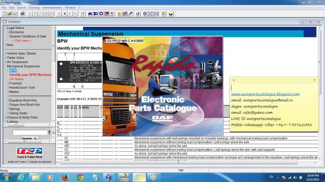 Daf Rapido Epc Parts Catalog