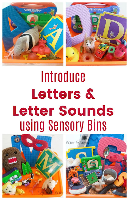 Life with Moore Babies: Introducing Letter Sounds with Letter Sensory Bins