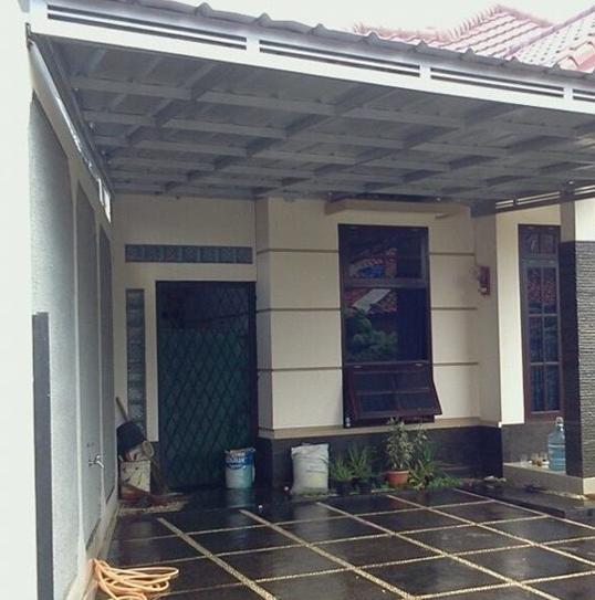 baja ringan teras rumah model kanopi minimalis 2020