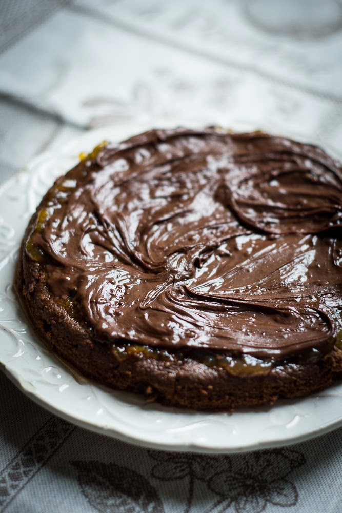 Flourless Chocolate Apricot Cake Recipe