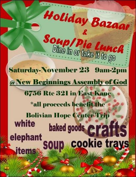 11-23 Holiday Bazaar, East Kane