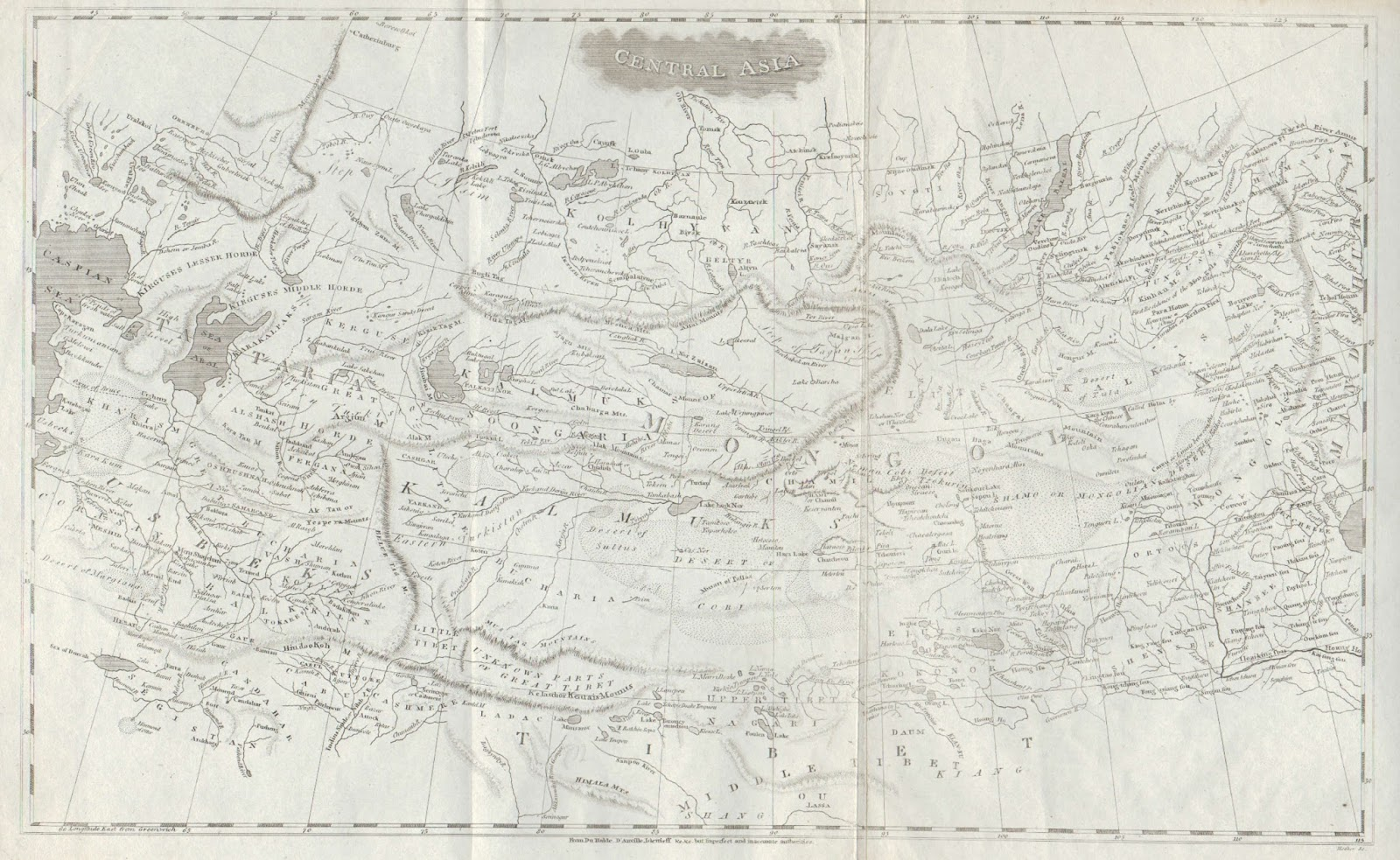 the final map which i ll write about today is a map of central asia which appeared in the 1804 a new and elegant general atlas jointly produced by aaron