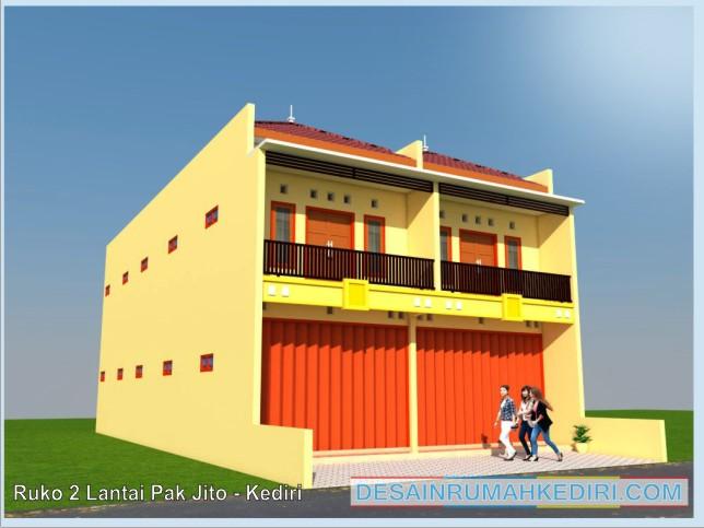 Ruko 01 Ruko 2 Lantai Pak Sujito Sukorame Kediri Jasa Desain Rumah Terpercaya