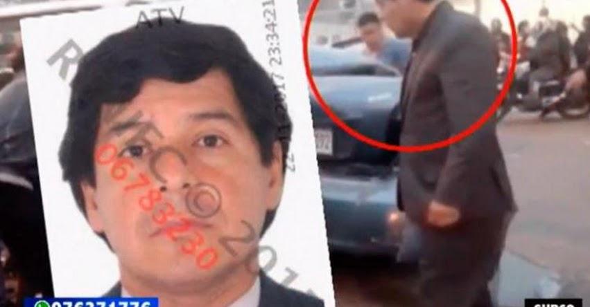 Notario de Lima Rubén Soldevilla Gala, provoca múltiple choque y se da a la fuga dejando una persona fallecida [VIDEO]