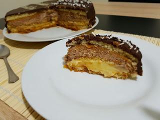 471º receta: TARTA DE CREMA Y TRUFA CON GANACHE DE CHOCOLATE