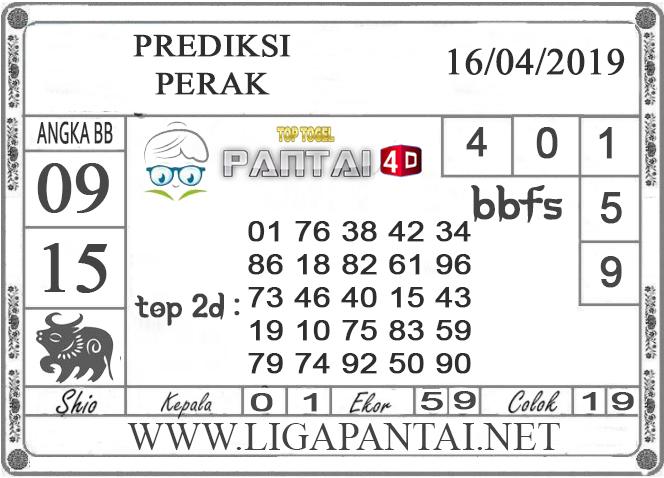 """Prediksi Togel """"PERAK"""" PANTAI4D 16 APRIL 2019"""