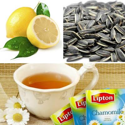 makanan kurus, detoks, lose weight trick & tips, teh chamomile, kuaci untuk kurus