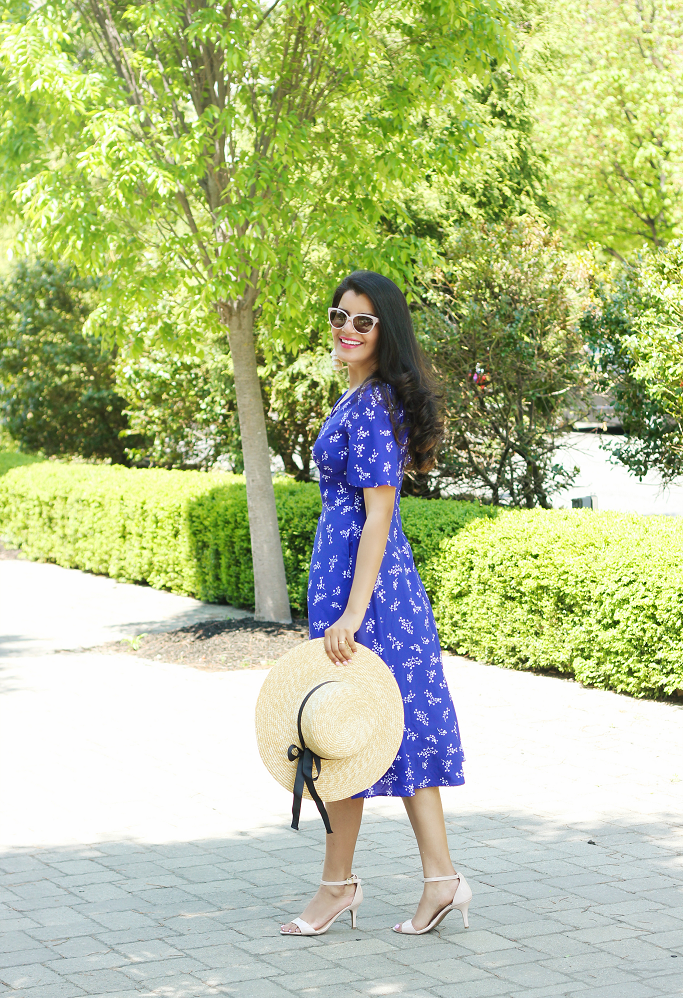 Spring Dresses Idea, Customized Dresses, eShakti Coupon Code, Lilies of the valley print crepe dress, Indian American Fashion Blogger