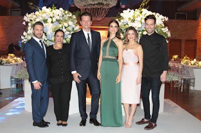 Lucas, Elisa, Bertolazzi, Chris, Beca e Hugo (Crédito: Gabriel Gabe/SBT)