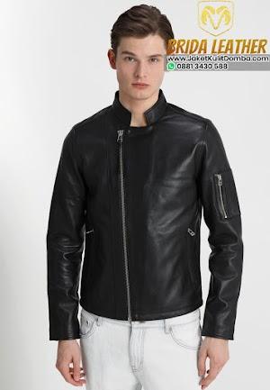 Harga Jaket Kulit Asli Domba Super Garut Pria Hitam Terbaru Brida Leather
