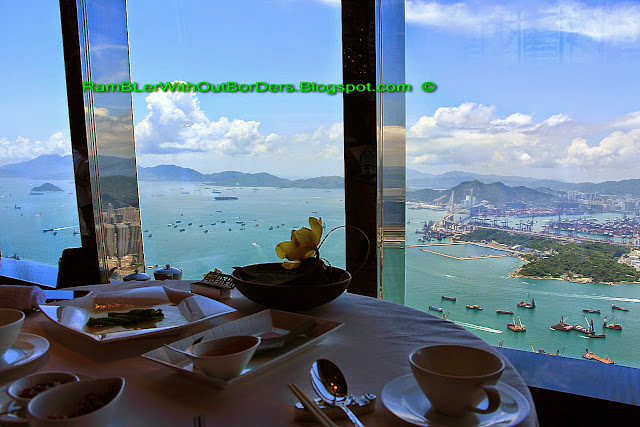 Window table, Tin Lung Heen, ICC, Hong Kong