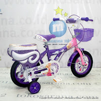 Sepeda Anak Perempuan Erminio 2208 Butterfly 12 Inci