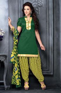 vibrant-green-dress-material
