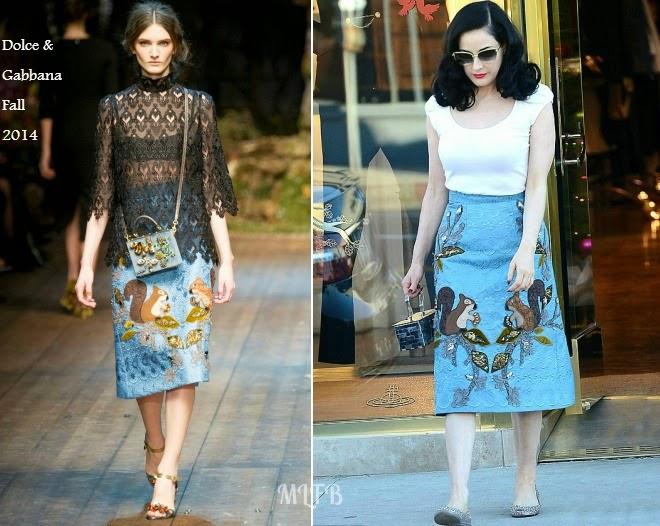 7a15dd83e1b Dita von Teese In Dolce   Gabbana - Out   About LA