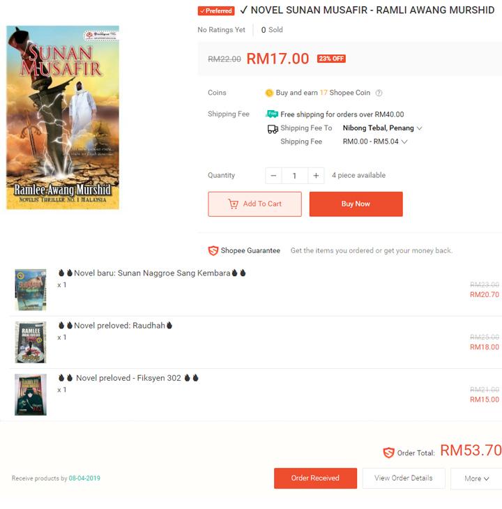 Borong Novel Pilihan Secara Online