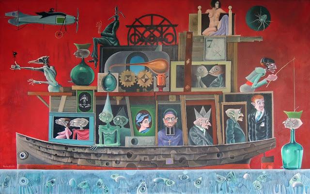 Rovira Brull pintura surrealista barco
