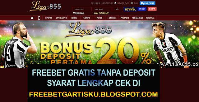 Freebet Gratis Liga855 Senilai 10.000