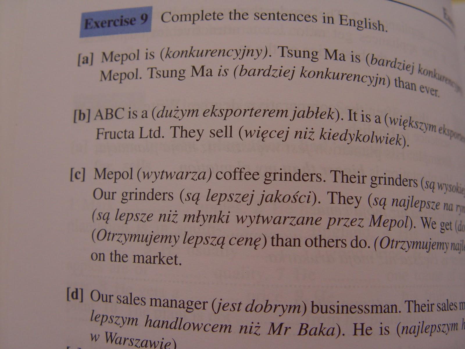 angielski biznesowy podręcznik