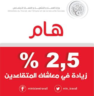 السيد زمالي يعلن 2,5 % نسبة الزيادة في معاشات المتقاعدين