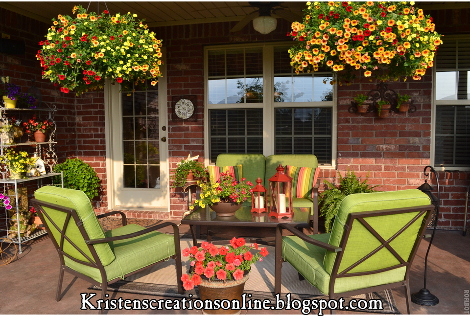 The Covered Patio In Full Bloom