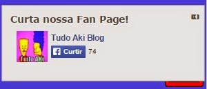 Box curtir pagina do Facbook flutuante