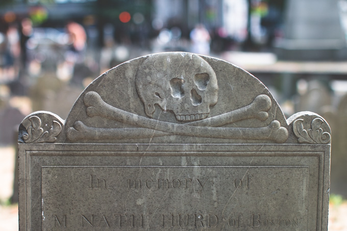 Boston, headstone,