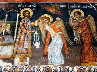 Τι κάνουν οι Άγγελοι στην Θεία λειτουργία (όραμα του Αγίου Νήφωνος)