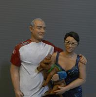 statuine realistiche volti somiglianti scultura fatta a mano persone in miniatura orme magiche