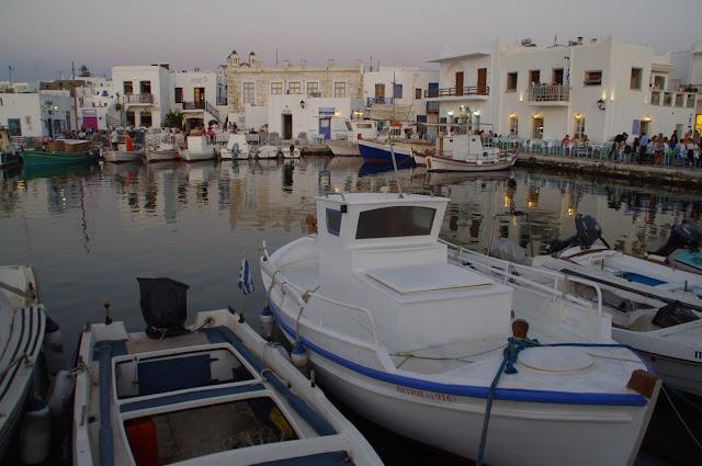 Dusk Naoussa Harbour