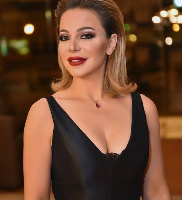 سوزان نجم الدين بفستان اسود جريء في حفل إطلاق مسلسل شوق