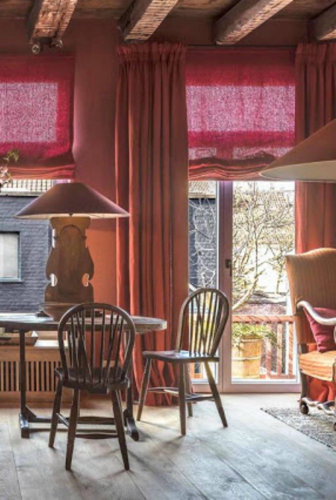 Belgian interior design style in a colorful dining room - found on Hello Lovely Studio