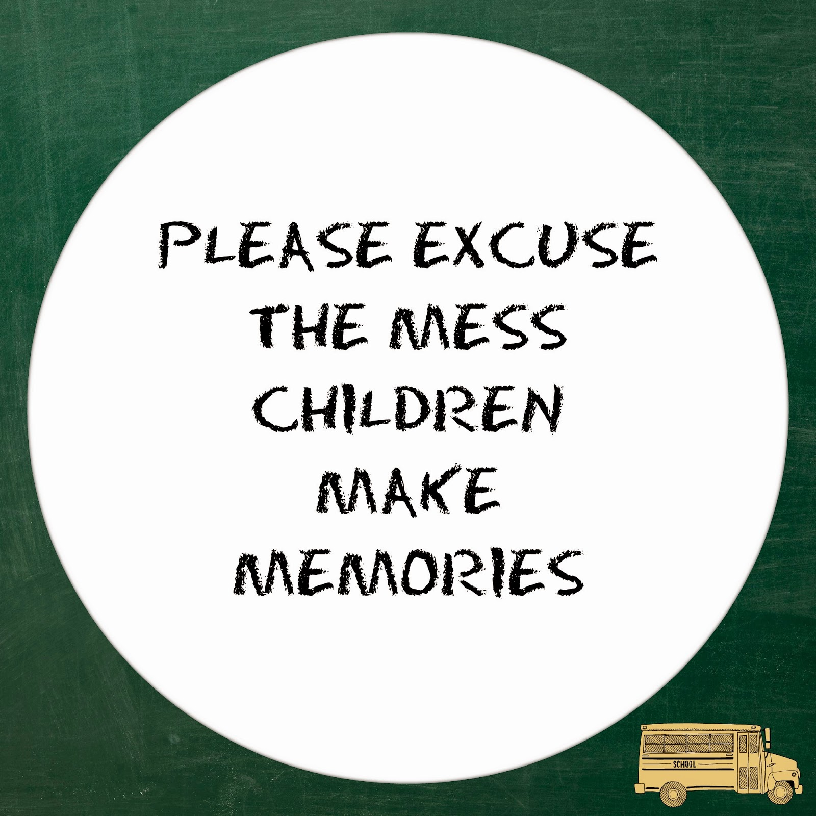 please excuse the mess printables3