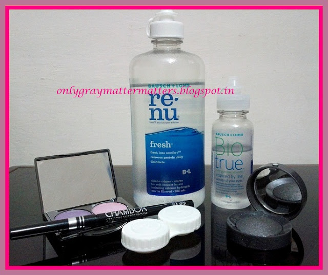 Contact lenses and Eye Makeup