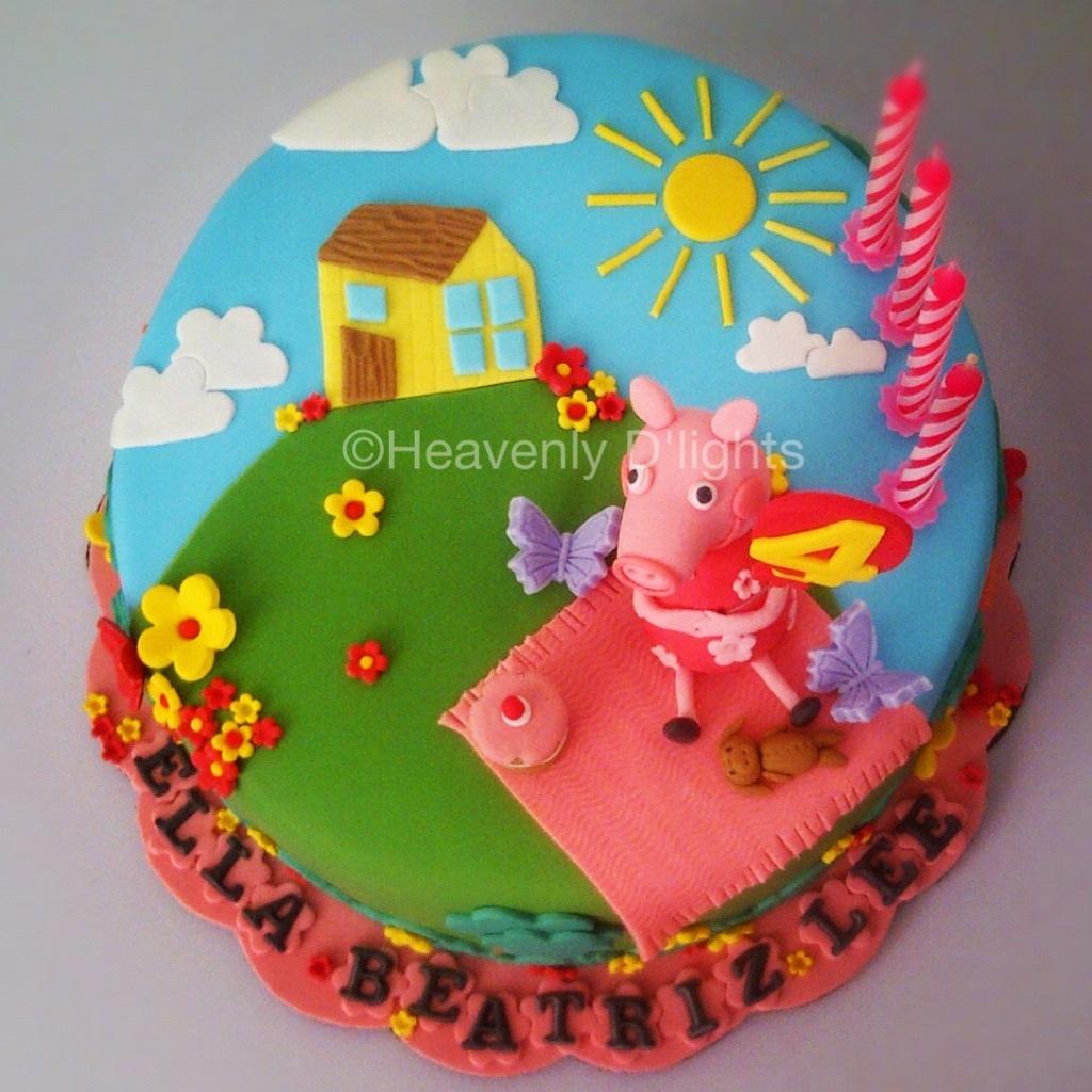 Heavenly Dlights Peppa Pig Birthday Cake