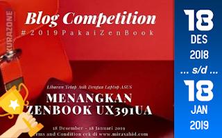 Kompetisi Blog - Laptop ASUS Zenbook berhadiah Laptop dan Gadget Jutaan Rupiah (18 Januari 2019)