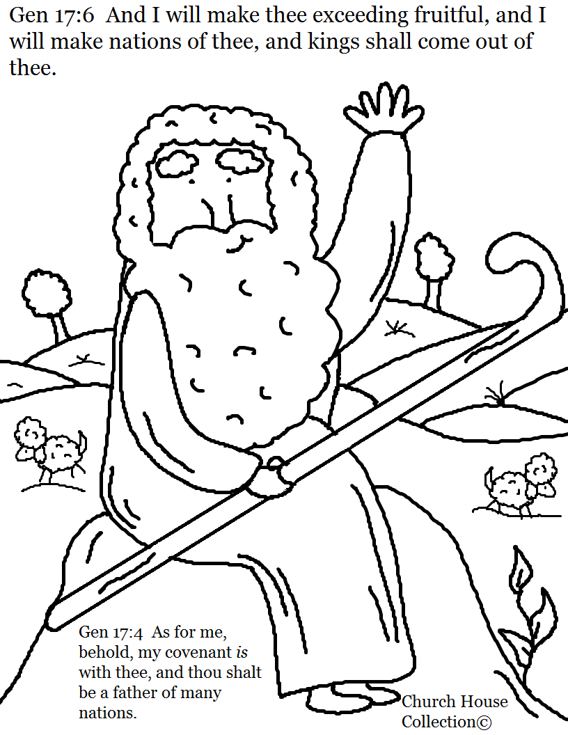 Church House Collection Blog: Free Abraham Coloring Page